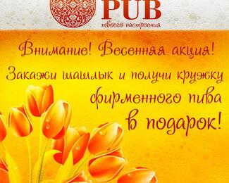 Шашлык + фирменное пиво в пабе Medallion