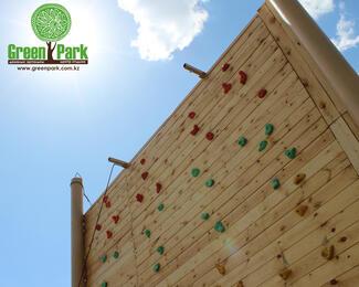 Батуты, скалодром, веревочный парк в Green Park Astana!