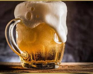 4 кружки пива в подарок от кафе Gold