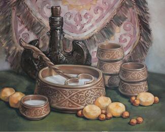 Восточный дастархан  в ресторане «Керуен» при гостинице «КазЖол»
