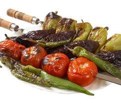 Шашлык из овощного микса