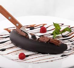 Запечённый банан с горьким шоколадом