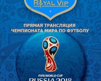Royal Vip приглашает Вас на прямую трансляцию Чемпионата Мира по футболу