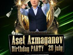Birthday party Aset Azmaganov в Golden Voice