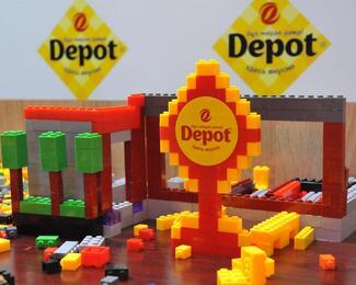 И поесть, и поиграть в любимый конструктор «Лего» в ресторане Depot!