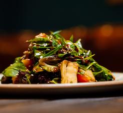Салат с баклажанами фри