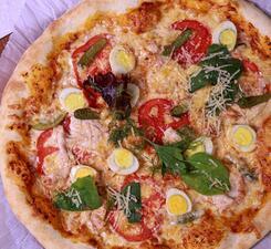 Пицца с курочкой и корнишонами